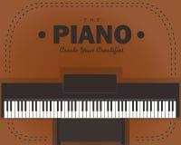 Papel de parede de Vektor do piano Imagens de Stock