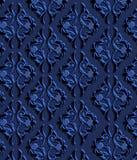 Papel de parede decorativo luxuoso azul, fundo decorativo da textura Imagens de Stock Royalty Free