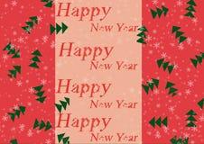 Papel de parede do ano novo, fundo, ilustração para o feriado do ano novo Fotografia de Stock Royalty Free