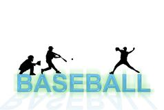 Papel de parede do basebol Fotografia de Stock Royalty Free
