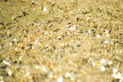 Papel de parede do borrão do ouro do fundo Fotografia de Stock