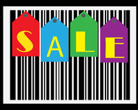 Papel de parede do código de barras da venda foto de stock royalty free