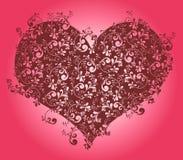 Papel de parede do coração Foto de Stock Royalty Free