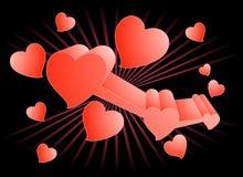 Papel de parede do coração do amor ilustração royalty free