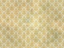 Papel de parede do damasco do ouro velho Fotografia de Stock