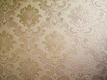 Papel de parede do estilo do damasco do tom de Brown Fotografia de Stock