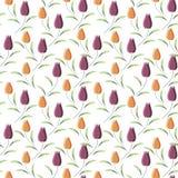 Papel de parede do fundo com tulipas da mola Ilustração Foto de Stock
