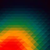 Papel de parede do fundo do polígono do mosaico colorido baixo Illustr do vetor Imagem de Stock