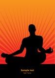 Papel de parede do homem da meditação do vetor Imagens de Stock