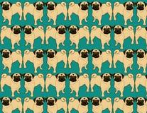 Papel de parede do Pug ilustração royalty free