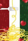 Papel de parede do restaurante italiano Fotografia de Stock Royalty Free