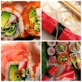 Papel de parede do sushi Imagem de Stock