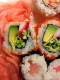 Papel de parede do sushi Imagens de Stock