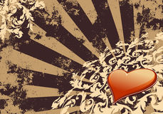 Papel de parede do Valentim do coração ilustração royalty free