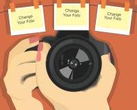 Papel de parede do vetor HD da câmera Imagens de Stock Royalty Free