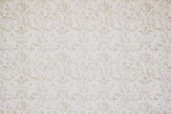 Papel de parede do vintage com ondas e flores ilustração do vetor