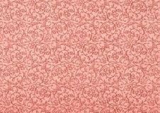 Papel de parede do vintage no vermelho com espirais Imagem de Stock