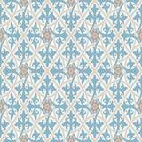 Papel de parede do vintage Teste padrão geométrico moderno, inspirado por papéis de parede velhos Cores retros agradáveis - azul  ilustração royalty free