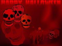 Papel de parede dos crânios de Halloween Imagens de Stock