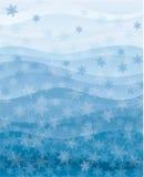 Papel de parede dos flocos de neve Fotografia de Stock