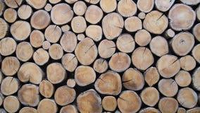 Papel de parede dos logs de madeira Fotografia de Stock