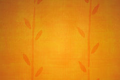 Papel de parede dourado com planta abstrata Fotos de Stock Royalty Free