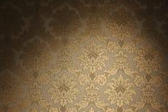 Papel de parede dourado do vintage Imagens de Stock Royalty Free