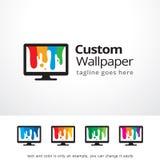 Papel de parede feito sob encomenda Logo Template Design Vetora Imagens de Stock Royalty Free