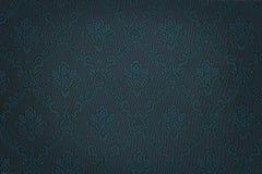 Papel de parede floral azul luxuoso do damasco Fotografia de Stock Royalty Free