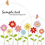 Papel de parede floral colorido da borboleta do verão da mola Fotografia de Stock Royalty Free