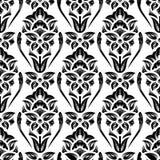 Papel de parede floral do damasco ilustração royalty free