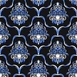 Papel de parede floral do damasco sem emenda para o projeto Imagens de Stock Royalty Free