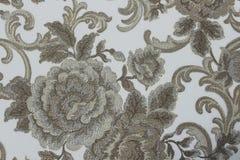 Papel de parede floral do fundo na parede Foto de Stock Royalty Free