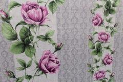 Papel de parede floral do fundo na parede Imagens de Stock