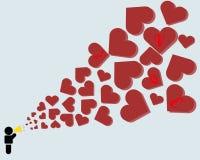 Papel de parede & fundo do dia de Valentim Ilustração Stock