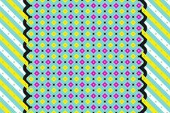 Papel de parede geométrico abstrato do teste padrão do vintage foto de stock