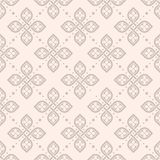 Papel de parede geométrico floral sem emenda do teste padrão Fotografia de Stock Royalty Free