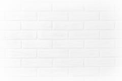Papel de parede horizontal branco da foto da parede de tijolo na sala Scandin Fotografia de Stock