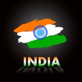 Papel de parede indiano sujo com bandeira Imagens de Stock Royalty Free