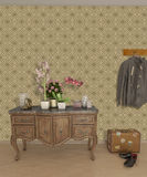 Papel de parede interior do salão da entrada Fotografia de Stock Royalty Free