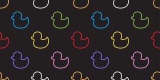 Papel de parede isolado vetor do fundo de Duck Rubber Seamless Pattern ilustração royalty free