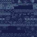 Papel de parede japonês dos retalhos da tela do estilo tradicional Foto de Stock