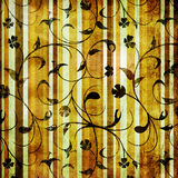Papel de parede listrado vintage Foto de Stock