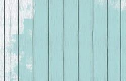 Papel de parede de madeira pintado do fundo com claro - pintura azul da cor imagens de stock royalty free