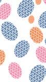Papel de parede na moda do teste padrão do ovo da páscoa para o fundo do dekstop e do smartphone com arquivo de alta resolução e  ilustração stock