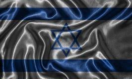 Papel de parede pela bandeira de Israel e pela bandeira de ondulação pela tela Fotografia de Stock