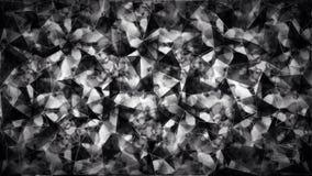 Papel de parede preto e branco abstrato do polígono do triângulo Foto de Stock Royalty Free