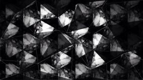 Papel de parede preto e branco abstrato do polígono do triângulo Imagens de Stock