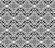 Papel de parede preto e branco do vintage Ilustração Stock
