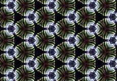 Papel de parede preto verde abstrato do teste padrão do círculo Fotos de Stock Royalty Free
